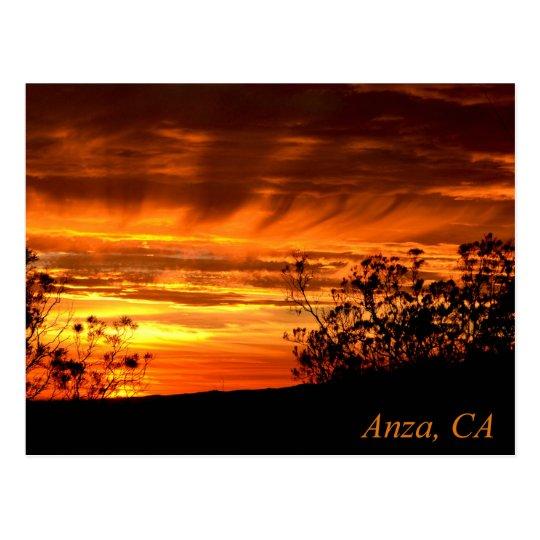 Sunset in Anza, California Postcard