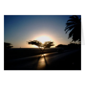 Sunset in Aruba Card
