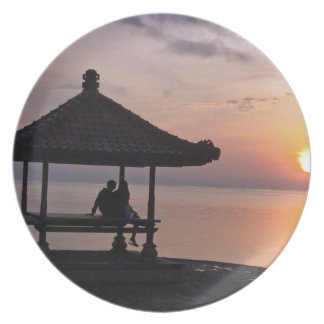 Sunset in Bali Plate