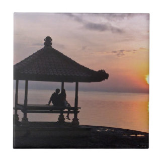 Sunset in Bali Tile