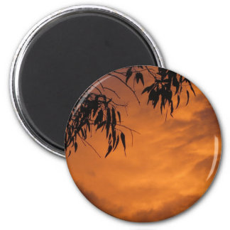 Sunset in Canberra 6 Cm Round Magnet