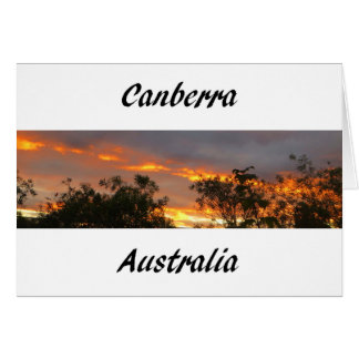 Sunset in Canberra Note Card