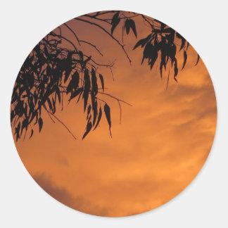 Sunset in Canberra Round Sticker
