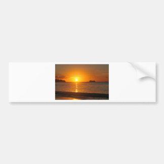 Sunset in Caribbean Bumper Sticker