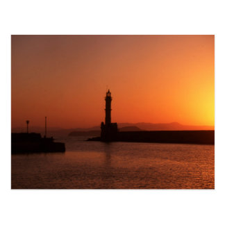 Sunset in Chania Postcard