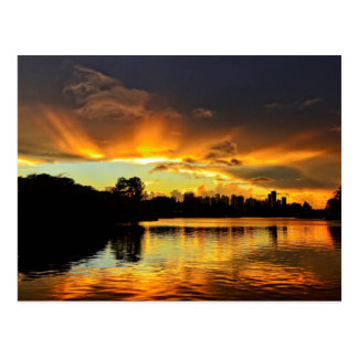 Sunset In City Londrina, Brazil Postcard