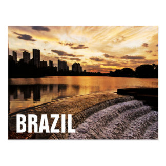 Sunset In City Londrina Postcard