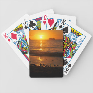 Sunset in Copacabana, Brazil Bicycle Playing Cards