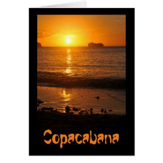 Sunset in Copacabana, Brazil Card