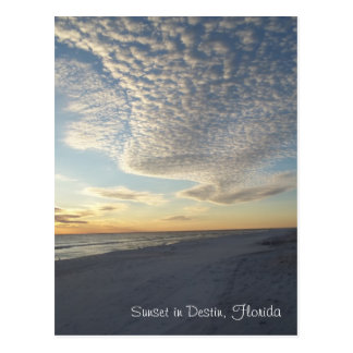 Sunset in Destin, Florida Postcard