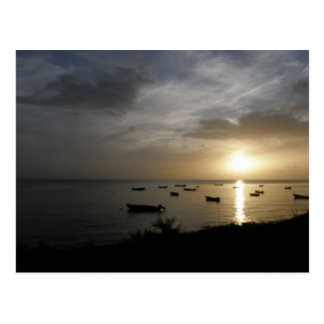 Sunset in Dominica Postcard