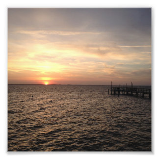 Sunset in Duck, North Carolina Photo Print
