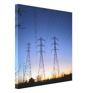 sunset in Fremont ca Canvas Print
