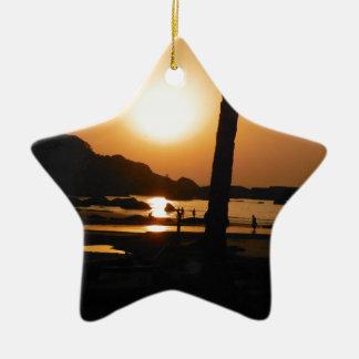 Sunset in Goa Ceramic Ornament