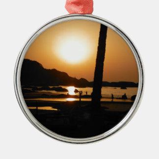 Sunset in Goa Metal Ornament