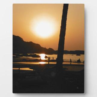 Sunset in Goa Plaque