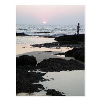 sunset in Goa Postcard