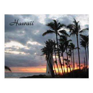 Sunset in Hawaii Postcard