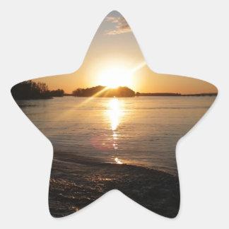 Sunset in Heaven Star Sticker
