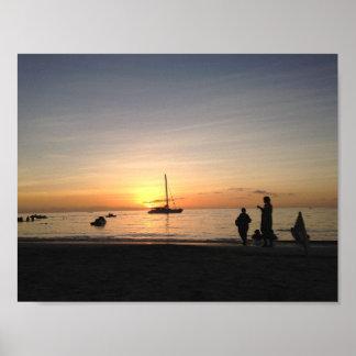 Sunset in Honduras Poster