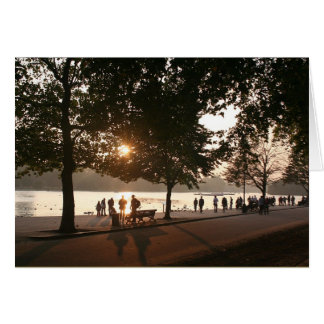 Sunset in Hyde Park Card