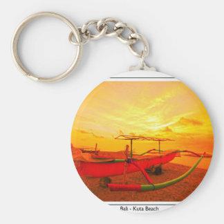 Sunset in Kuta Basic Round Button Keychain