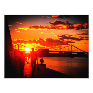 Sunset in Kyiv Photo Print