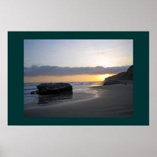 Sunset in Laguna Beach Poster