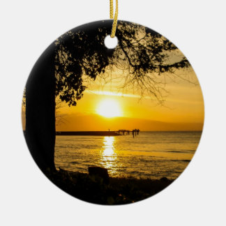 Sunset in Lahaina Ceramic Ornament