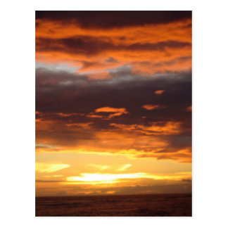 Sunset in Lahaina in Maui Hawaii Postcard