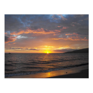 Sunset in Lahaina, Maui, Hawaii Postcard