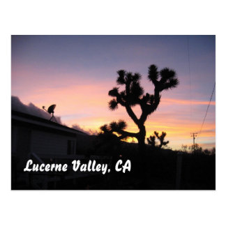 Sunset in Lucerne Valley Postcard