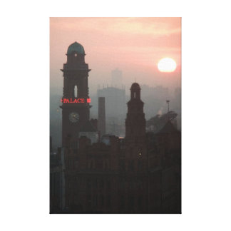 Sunset in Manchester Canvas Print