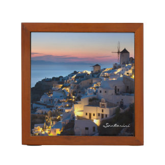 Sunset in Oia Greece Pencil/Pen Holder