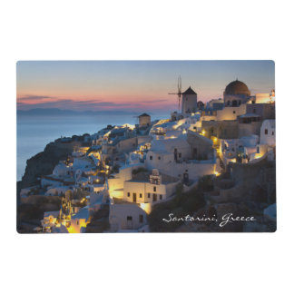 Sunset in Oia Greece Laminated Place Mat