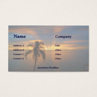Sunset in Paradise Business Card