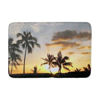 Sunset in Paradise, Honolulu Hawaii Bathmat