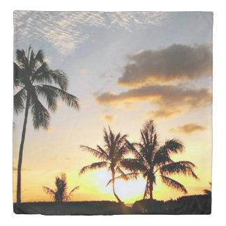 Sunset in Paradise, Honolulu Hawaii Duvet Cover