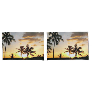 Sunset in Paradise Honolulu Hawaii Pillow Case Set Pillowcase