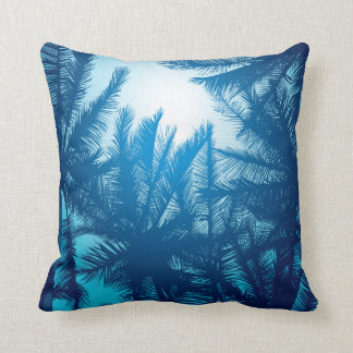 Sunset in paradise - in deep blue throw pillow