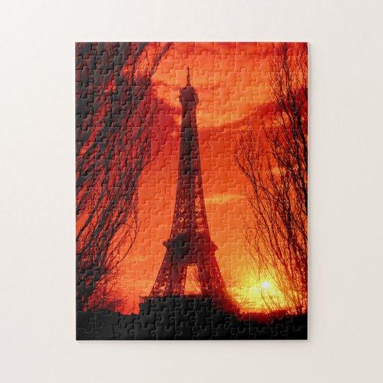 Sunset in Paris Jigsaw Puzzle