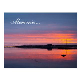 Sunset in Reykjavik Postcard