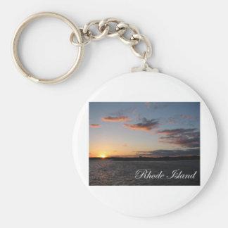 Sunset in Rhode Island Basic Round Button Keychain