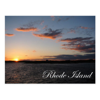 Sunset in Rhode Island Postcard