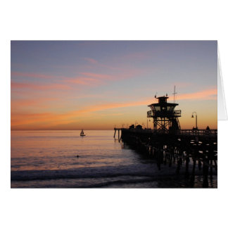 Sunset in San Clemente Card