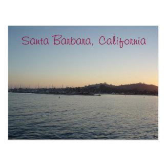 Sunset in Santa Barbara Postcard