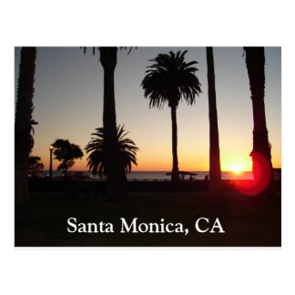 Sunset In Santa Monica, CA Postcard