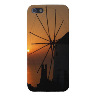 Sunset in Santorini iPhone 5 Case Glossy Finish