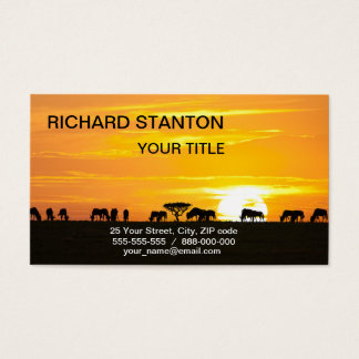 Sunset in Serengeti Business Card