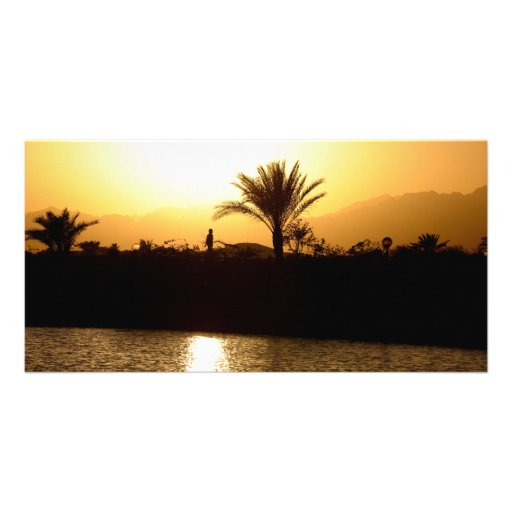 Sunset in Sharm el Sheikh, Egypt Photo Card